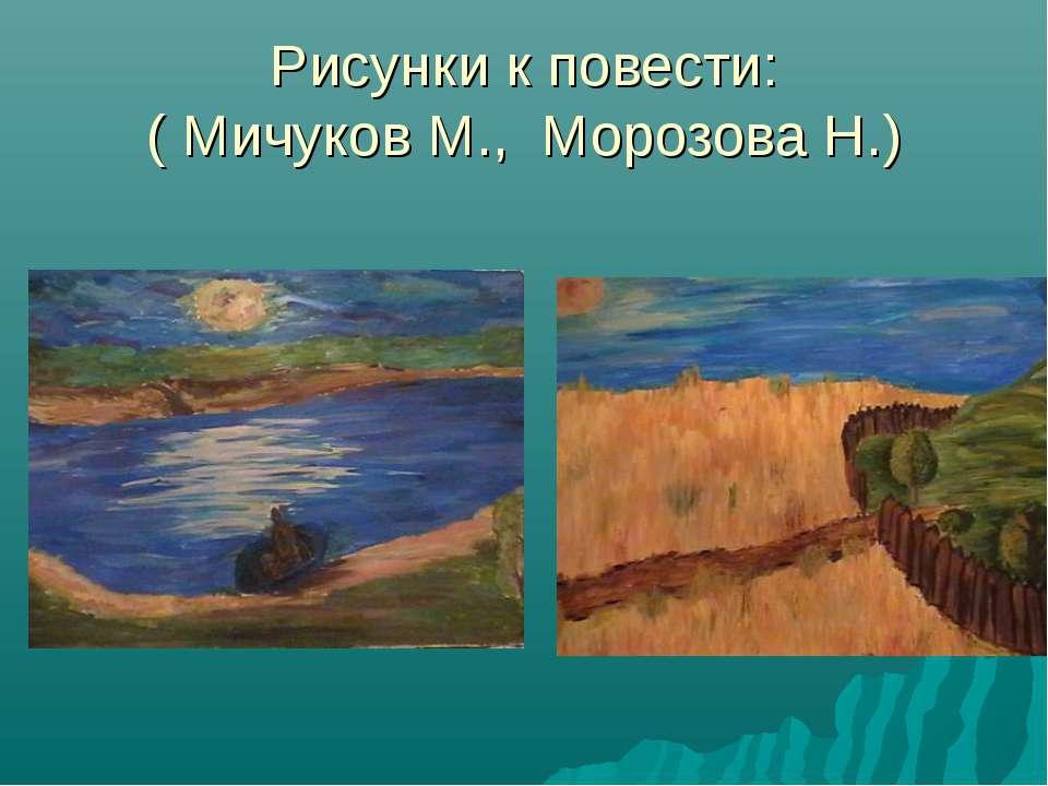 Рисунки к повести: ( Мичуков М., Морозова Н.)