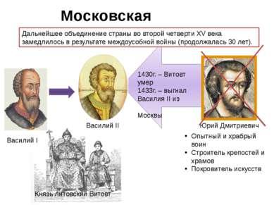 Московская усобица. Дальнейшее объединение страны во второй четверти XV века ...