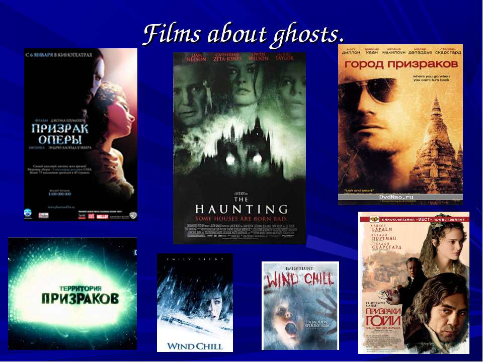 Films about ghosts.