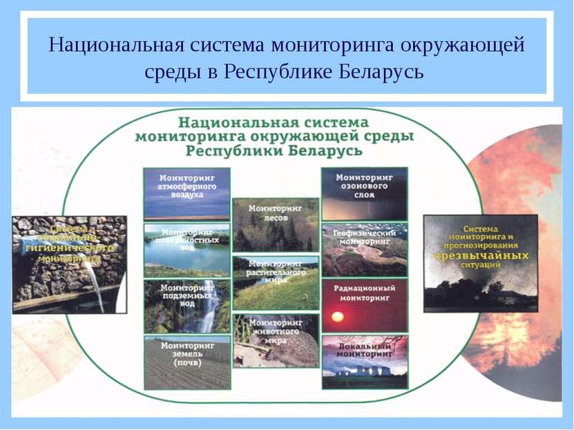 Национальная система мониторинга окружающей среды в Республике Беларусь