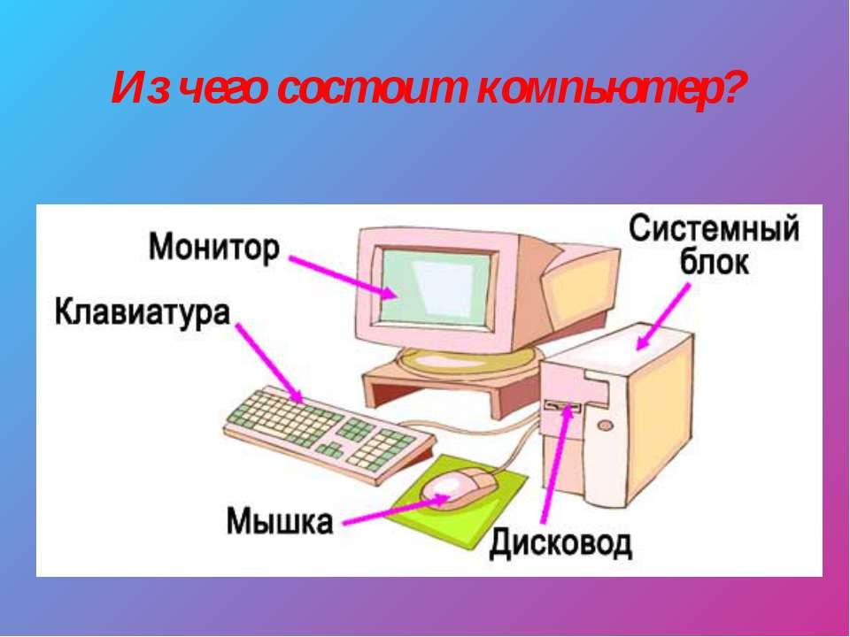 из чего состоит компьютер картинки