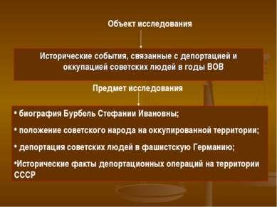 Исторические события, связанные с депортацией и оккупацией советских людей в ...