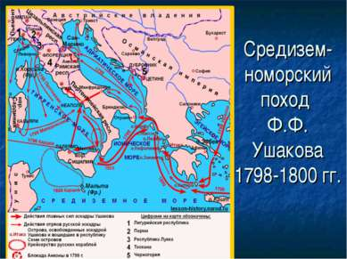 Средизем- номорский поход Ф.Ф. Ушакова 1798-1800 гг.