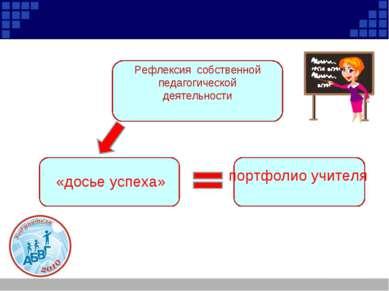 Рефлексия собственной педагогической деятельности «досье успеха» портфолио уч...
