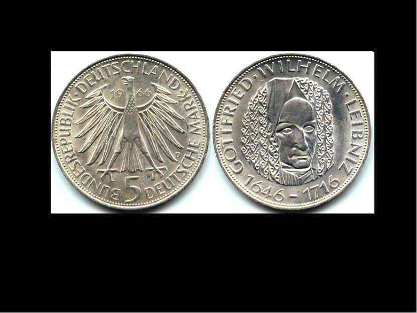 5 марок 1966 г. — немецкая памятная монета, посвящённая 250-летию смерти Готф...
