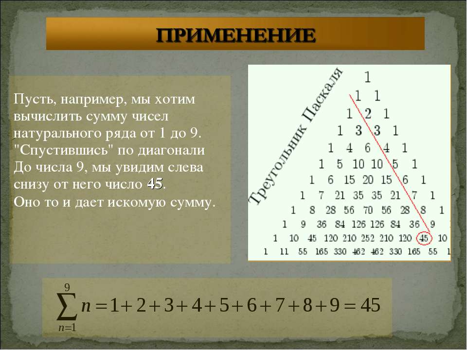 Пусть, например, мы хотим вычислить сумму чисел натурального ряда от 1 до 9. ...