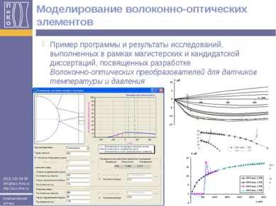 Моделирование волоконно-оптических элементов Пример программы и результаты ис...