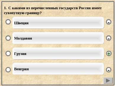 1. С какими из перечисленных государств Россия имеет сухопутную границу? Швец...