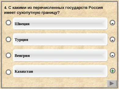 4. С какими из перечисленных государств Россия имеет сухопутную границу? Швец...