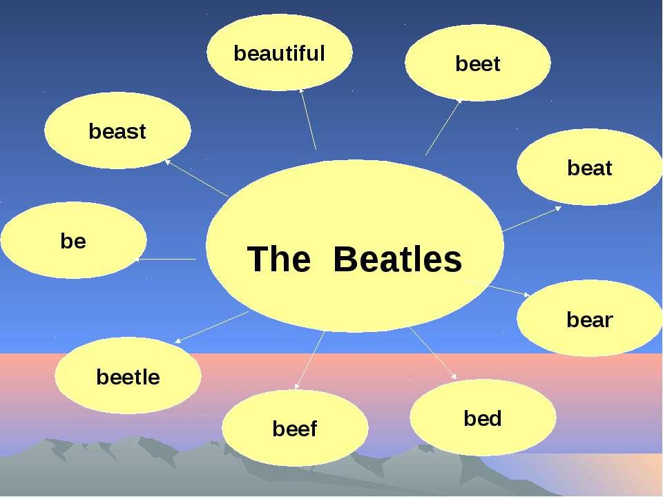 The Beatles beautiful beet beast be beat bear bed beef beetle