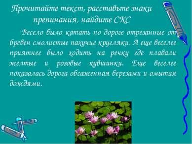 Прочитайте текст, расставьте знаки препинания, найдите СКС Весело было катать...