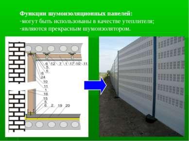 Функции шумоизоляционных панелей: могут быть использованы в качестве утеплите...