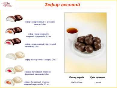зефир глазированный с «вареной сгущенкой», 2,5 кг зефир глазированный с фрукт...