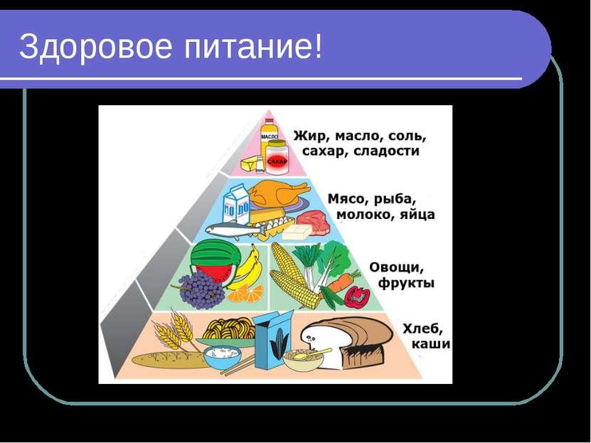 Здоровое питание!