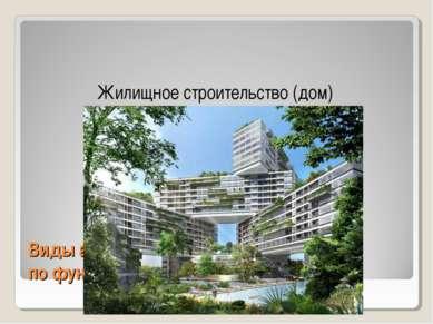 Виды архитектуры по функциональному значению Жилищное строительство (дом)