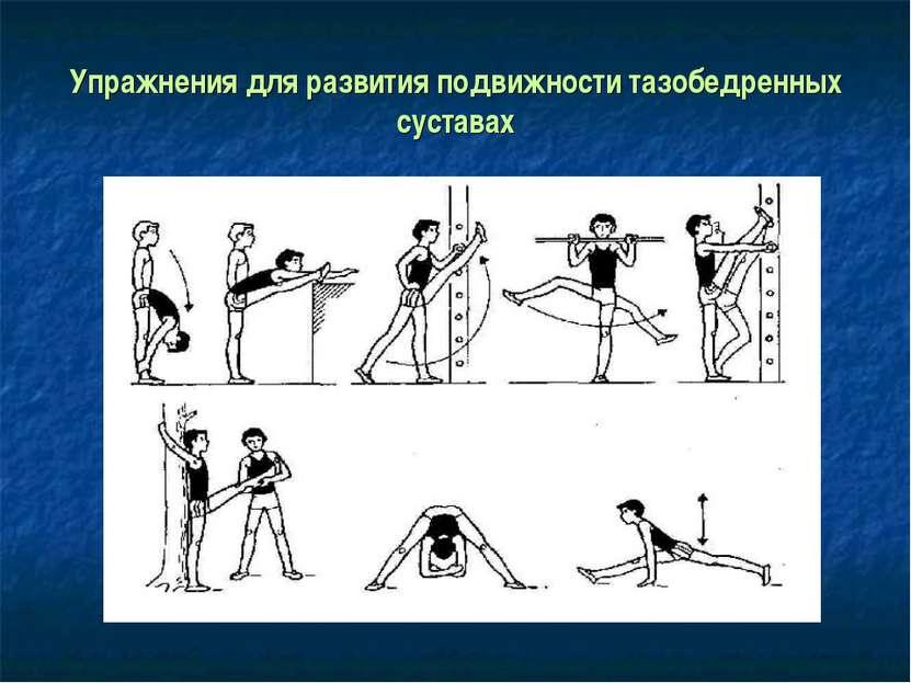 Упражнения для развития подвижности тазобедренных суставах