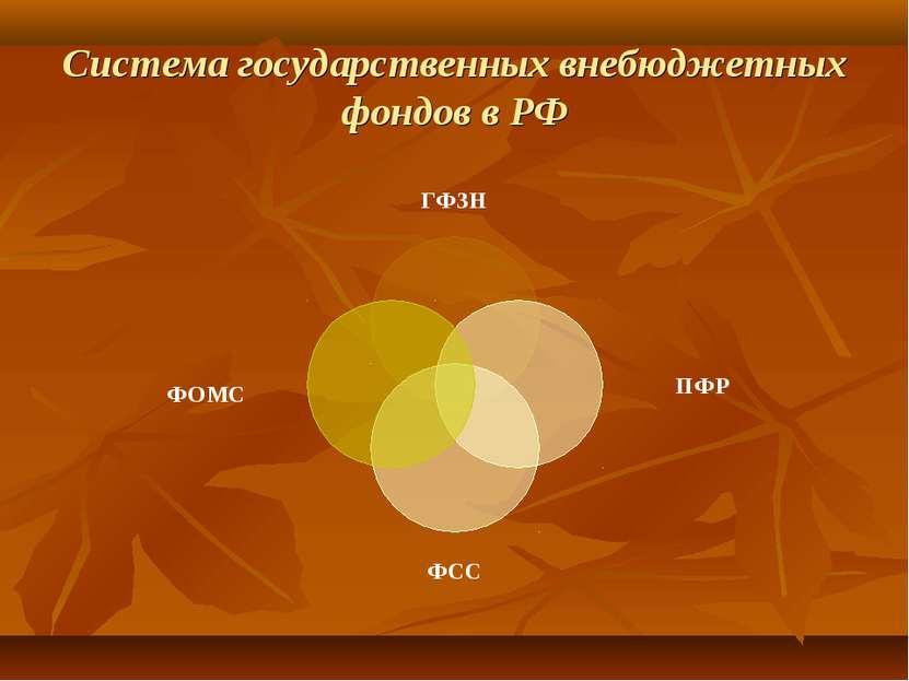 Система государственных внебюджетных фондов в РФ
