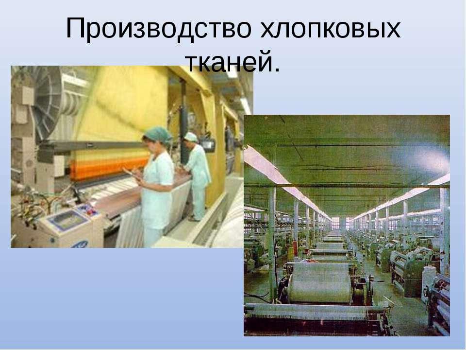 Производство хлопковых тканей.