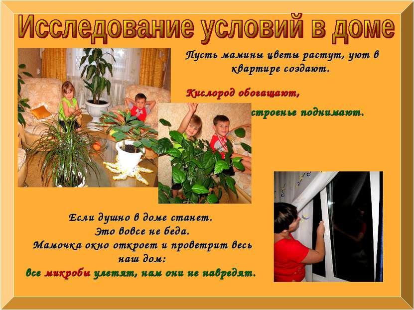 Пусть мамины цветы растут, уют в квартире создают. Кислород обогащают, настро...