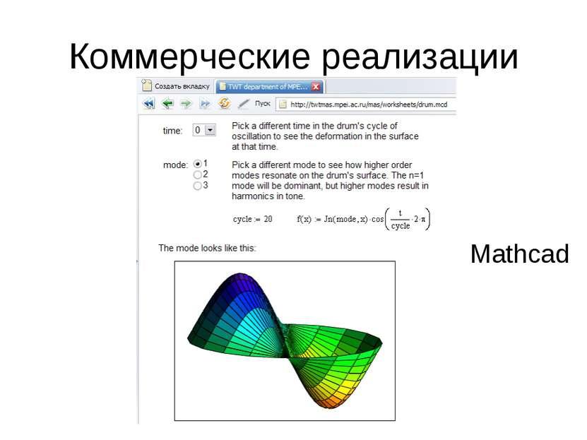 Коммерческие реализации Mathcad