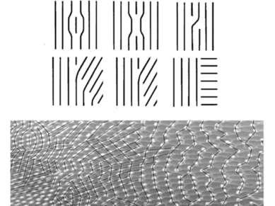 Дефекты решеток. Дисклинационный рисунок мозаики