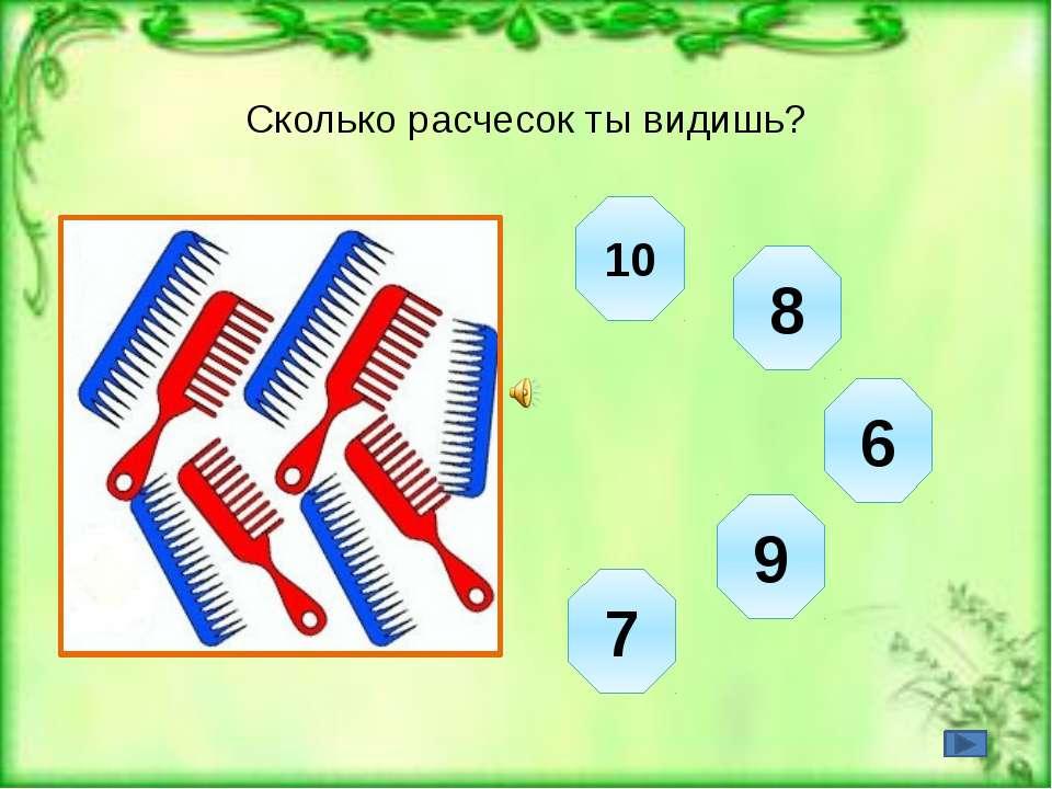 Сколько расчесок ты видишь?