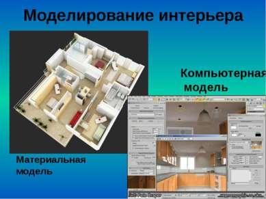 Моделирование интерьера Материальная модель