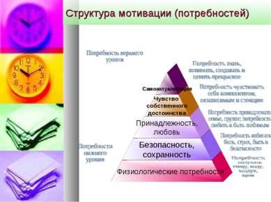 Структура мотивации (потребностей)
