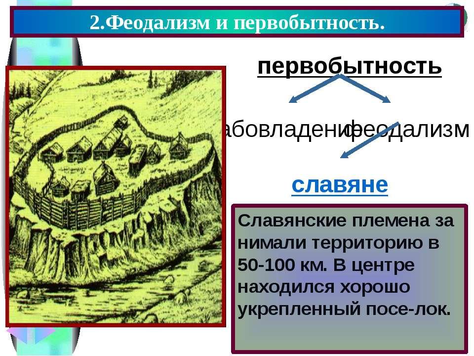 2.Феодализм и первобытность. первобытность славяне Славянские племена за нима...