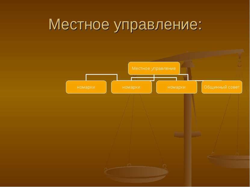 Местное управление: