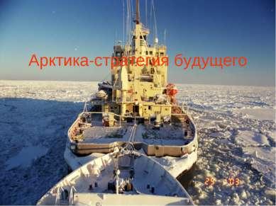 Арктика-стратегия будущего