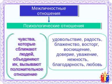 Психологические отношения Межличностные отношения чувства, которые сближают л...
