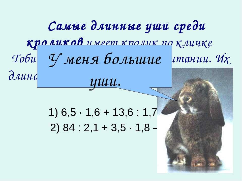 Самые длинные уши среди кроликов имеет кролик по кличке Тоби III, живущий ...