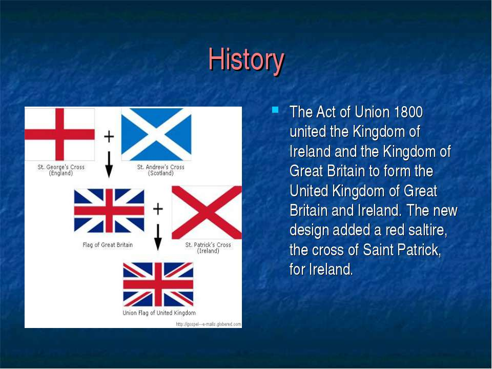 History The Act of Union 1800 united the Kingdom of Ireland and the Kingdom o...