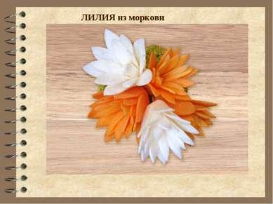 ЛИЛИЯ из моркови