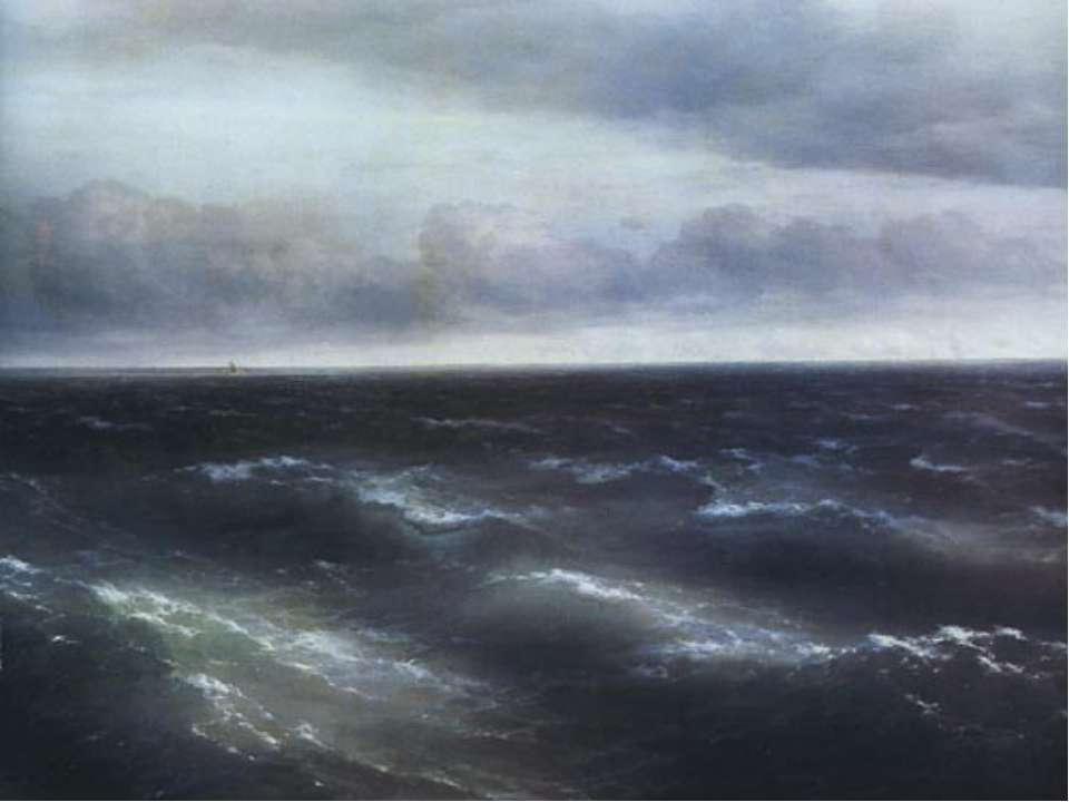 """За внешним реализмом этого полотна скрывается глубочайшая метафизика. """"Море"""" ..."""