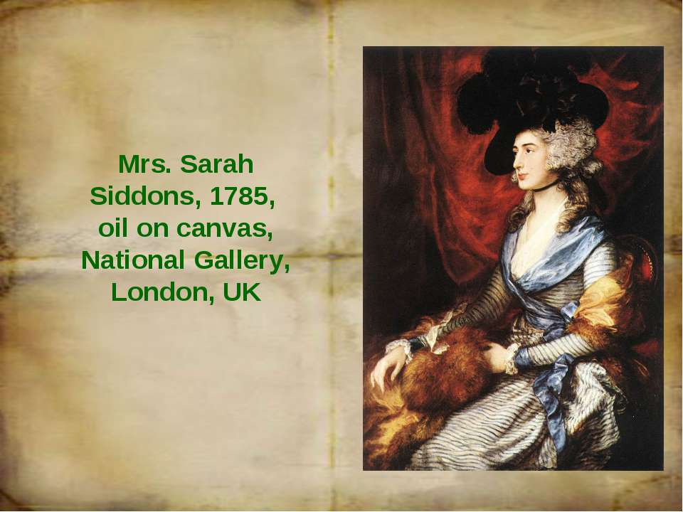 Mrs. Sarah Siddons, 1785, oil on canvas, National Gallery, London, UK