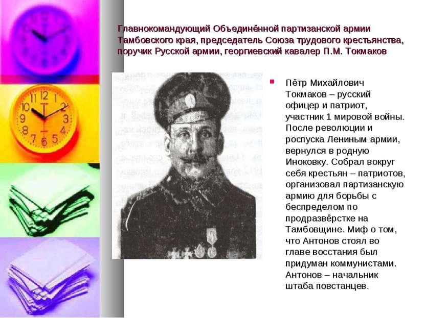 Главнокомандующий Объединённой партизанской армии Тамбовского края, председат...