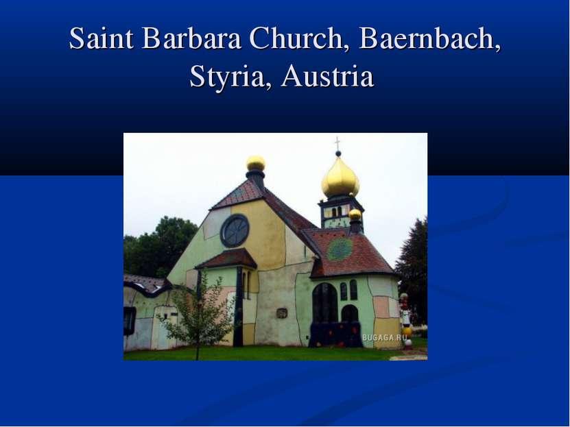 Saint Barbara Church, Baernbach, Styria, Austria