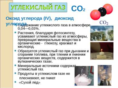 Содержание углекислого газа в атмосфере 0,04—0,03%. Растения, благодаря фотос...