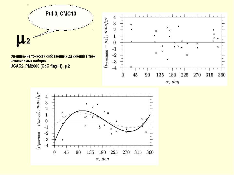 2 Pul-3, CMC13 Оценивание точности собственных движений в трех независимых на...