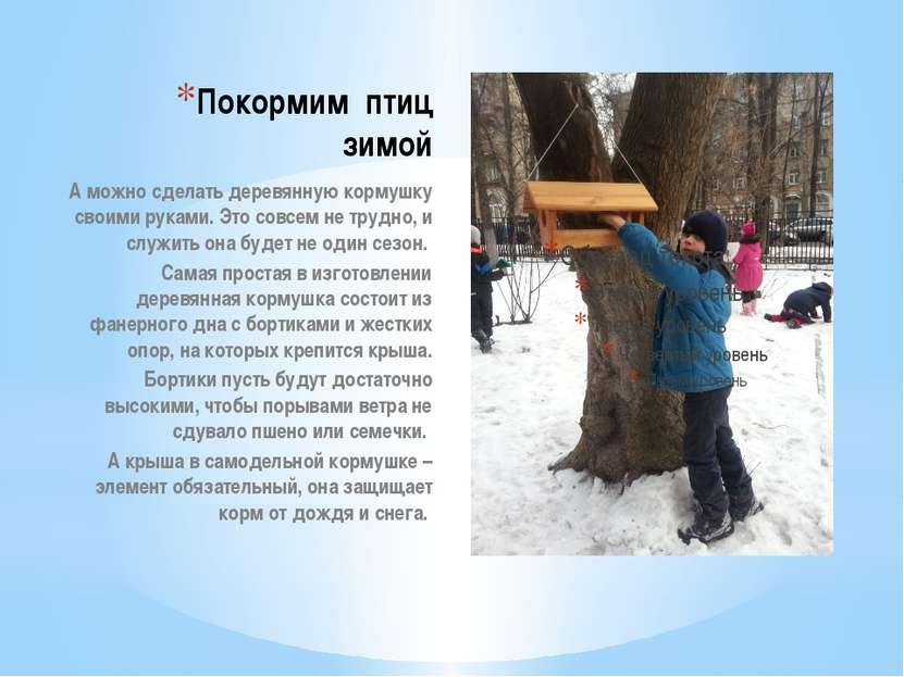 Покормим птиц зимой А можно сделать деревянную кормушку своими руками. Это со...