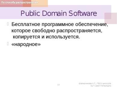 Public Domain Software Бесплатное программное обеспечение, которое свободно р...