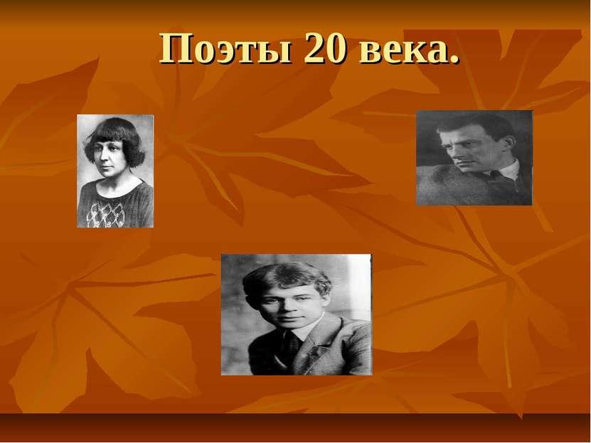 Поэты 20 века.