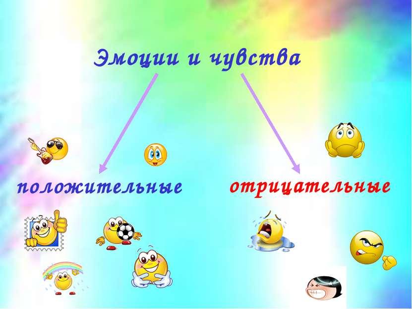 Эмоции и чувства положительные отрицательные