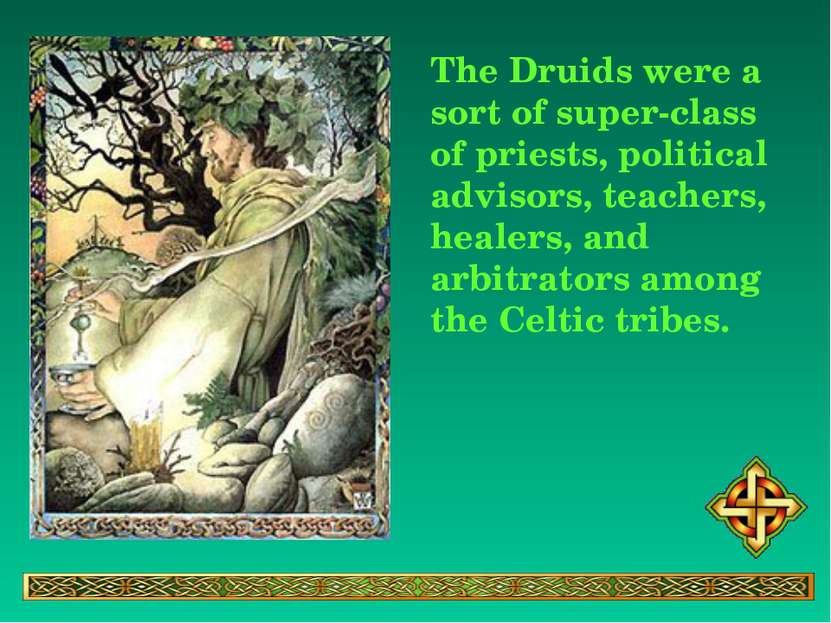 The Druids were a sort of super-class of priests, political advisors, teacher...