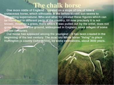 The chalk horse One more riddle of England – created on a slope of one of hil...