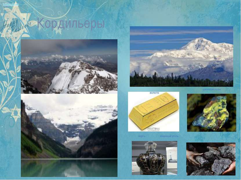 Кордильеры нефть каменный уголь золото урановые руды