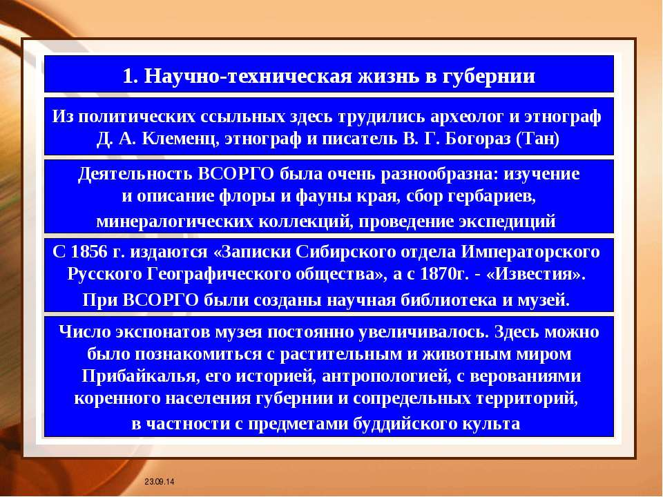 * 1. Научно-техническая жизнь в губернии Из политических ссыльных здесь труди...