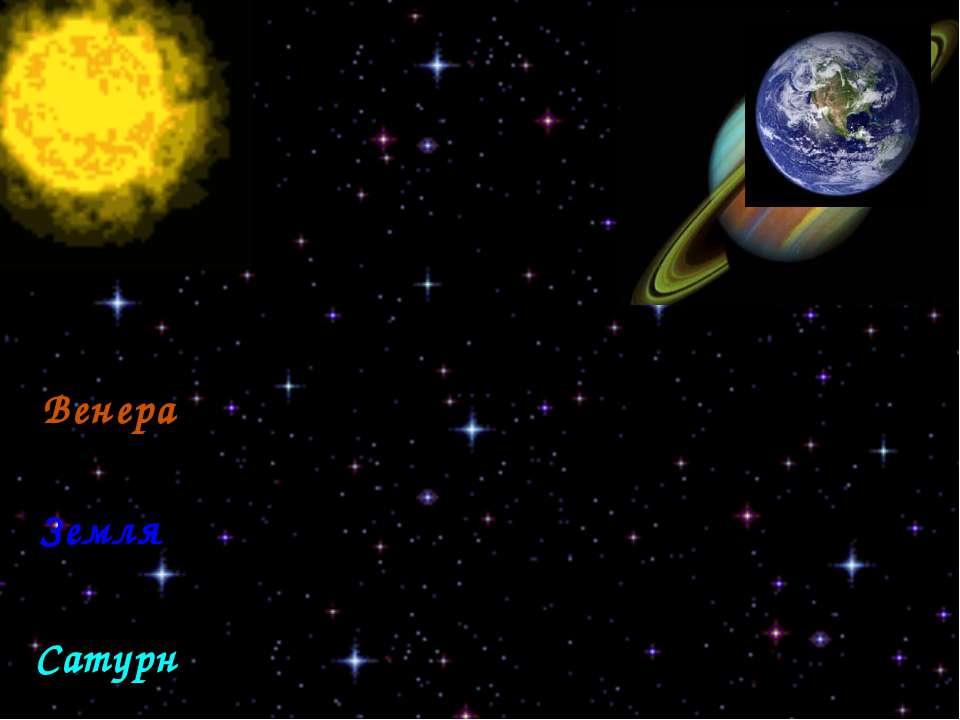 Яркие звезды Венера Сатурн Земля